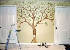 family tree on the wall | Family Tree  Steps including using painters tape as a guide