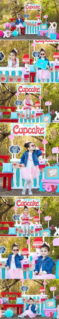Valentines day mini session, Valentines, Mini Sessions, Cupcake shop, children…