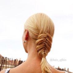 Low dutch fishtail braid makes an interesting ;) #aniasbraids