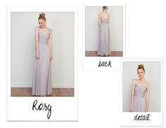 Love Lane bridesmaid dresses available in Nashville at @Bella Bridesmaid , straps, v neck, low cut back