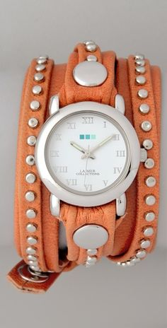I enjoy the style of this watch very much.  I have nothing orange though.  Kristin - This could be your OSU game watch! lol