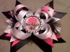 Birthday girl hairbow!