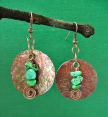 copper earrings - Google Search