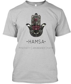 HAND OF FATIMA T-SHIRT The Hamsa is believed to pull the forces of good from the universe, in order to protect the wearer from harm, unseen dangers and disease. It is a symbol of healing and miracles, happiness and health. . #dreamcatcher #yoga #belief #trust #peace #love #kids #pure #heart #life #goodness #practice #good #vibes #smile #mother #father #dads #moms #balance #purity #abundance #happiness #best #hot #cool #yogi #shavasana #training #motivation #meditation #meditate #spirit #soul