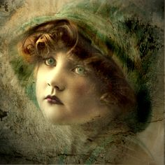 Mixed Media/Altered Art - Reworked Vintage Image