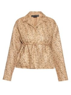Point-collar bouclé-tweed jacket | Rochas | MATCHESFASHION.COM UK