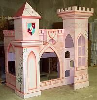 Theme beds for your kid's bedroom from castle bunk beds to a hand painted princess carrige we have your creative bedroom furniture. Princess Castle Bed, Princess Room, Kid Beds, Bunk Beds, Unique Kids Beds, Little Tikes Playhouse, Kids Castle, Diy Kids Furniture, Bedding Inspiration