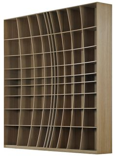 Joined and Jointed, Simon Pengelly, Concave Bookcase #pin_it @mundodascasas See more here: www.mundodascasas.com.br