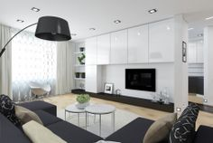 Enthralling Black and White Themed Living Room
