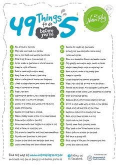 49 things to do before you 39 re 5 there are some things that every kid