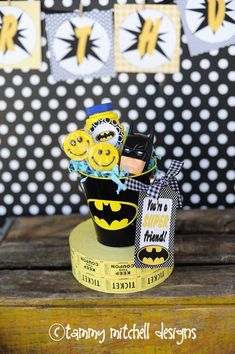 Boy Parties: SuperHero Party: Batman Party Ideas - Pink Peppermint Design