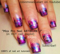 painted nails | ... nails, purple nails, ladys face on nail, sexy nails, hand painted