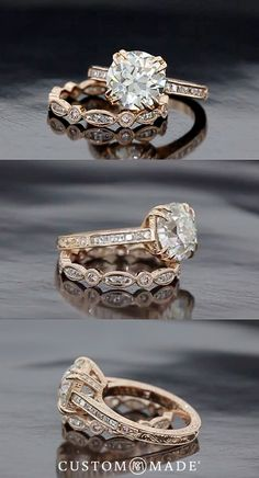 Ooh I love this!! For more ideas see our custom ring gallery: www.custommade.com/gallery/custom-engagement-rings/