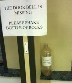 if i put this outside the apartment i wonder how many people would actual do it...LOL