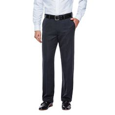 Haggar H26 - Men's Straight Fit Trousers Charcoal Heather