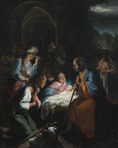 Carlo Saraceni  (1759-1620)  —  Adoration of the Shepherds, c.1614   (1599x2000)