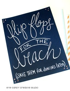 237037cac Image result for beach wedding flip flop sign