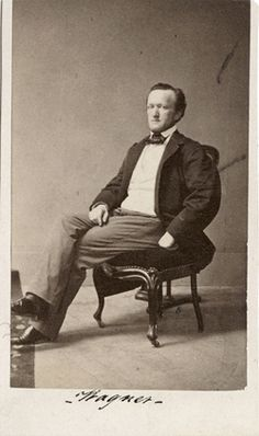 The Bayreuther Wagner-Museum has announced that a photo of Wagner - once thought long lost - has finally been found and bought by thems. Romantic Composers, Classical Music Composers, Romantic Period Music, Sound Of Music, My Music, Opera Musica, Richard Wagner, Amadeus Mozart, People Of Interest