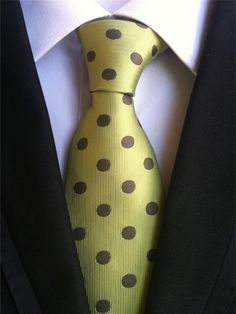 CityRaider Brand Gravata 2018 New Silk Ties for Men Neck Tie Slim Dotted Neckties Mens Bradegroom Wedding Necktie Corbatas Wedding Groom, Wedding Men, Gold Wedding, Mens Ties Crafts, Fashion Brand, Mens Fashion, Style Fashion, Wooden Bow, Casual Tie