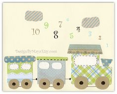Baby Room Decor Nursery wall art DesignByMaya on Etsy