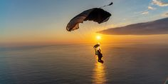 Peak Experiences in Skydiving True Happiness, Skydiving, Celestial, Sunset, Abstract, Places, People, Outdoor, Life