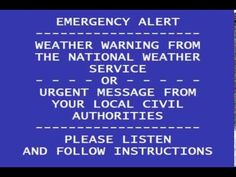 We create videos showing the Emergency Alert System in both realistic and extreme scenarios. Emergency Alert System, Weather Warnings, Ice Storm, National Weather Service, Thunderstorms, United States, Messages, Random Stuff, Google Search