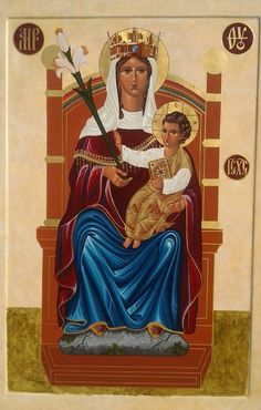 Our Lady of Walsingham by Joseph Brown Icons. Displayed at Our Lady of Walsingham Church in Dayton, Tennessee