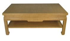 Raffia wrapped coffee table