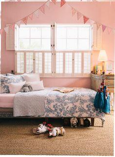pink bedroom Pink Bedroom For Girls, Woodland Nursery Decor, Kids Room Design, Dream Bedroom, Traditional House, Toddler Bed, House Design, Interior Design, David Hicks