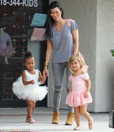 The show must go on: Kourtney Kardashian stepped out on Los Angeles on Wednesday, as it emerged that her ex Scott Disick has checked into rehab