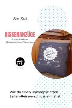Kissen nähen, Reissverschluss einnähen, DIY, Freebie, Free-Book Freebies, Design, Sew Pillows, Tutorials, Tips