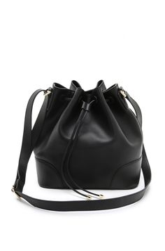 Tory Burch Robinson Drawstring Bucket Bag.