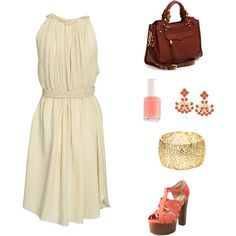 Peachy, created by aolcese on Polyvore