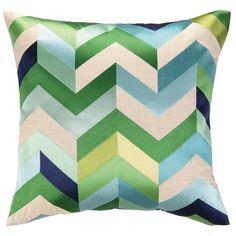DL Rhein Arrowhead Blue/Green Embroidered Pillow. #laylagrayce #dlrhein