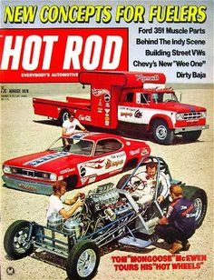 HOT ROD Magazine Covers from the 1970s