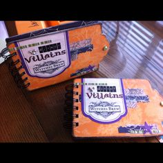 Special Halloween themed autograph books to be used at disney's Halloween party for upcoming trip