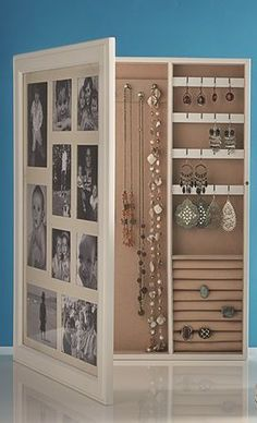 """This is a cute idea. I want something that still """"protects"""" my jewelry, but is large enough that necklaces don't tangle, and everything is visible and accessible - because I don't wear it if I can't grab and go!"""