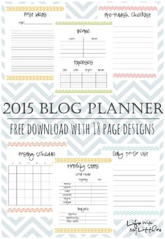 Life With My Littles: 2015 Blog Planner