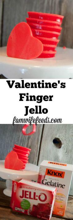 Easy Valentine's Finger Jello - kid easy and fun to eat!