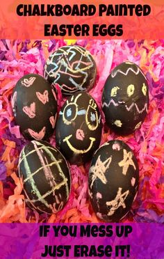 Who might like this? @Susan Caron Brunst paint eggs with chalk paint (might work better with wooden eggs not real ones!)