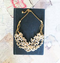 Bridesmaids Pearl Necklace, Bridesmaids Gift Jewelry, Bridesmaids Set, Bridesmaids Necklace, Bridesmaid Jewelry. $72.00, via Etsy.