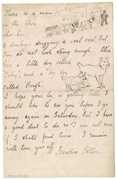 Autograph letter signed, London, to Noel Moore   June 4, 1895, page 4   The Morgan Library & Museum-Although she was appealing to Noel's interests, she also reveals her likes and dislikes: a life-long passion for antiques and fine old houses as well as a distinct lack of sympathy for a Welsh village she had visited.