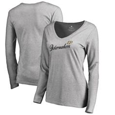 d2d158bbeee4b Purdue Boilermakers Fanatics Branded Women s Dora V-Neck Long Sleeve T-Shirt  – Heathered Gray