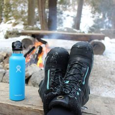Hilton Falls Conservation Area - Milton / Feet up, a beverage and the warmth of a bonfire on a cold day!  (Pictured - Hoodoo Winter Boots)
