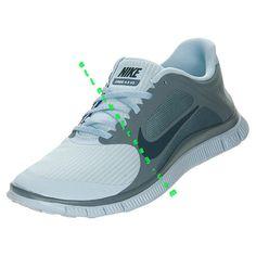 ccd1c81d9c58 Nike Free 4.0 V3 Womens Light Armory Blue Armory Navy 580406 444