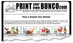 Would LOVE to host a couples bunco party! Maybe New Years Eve?? Hmmm :)