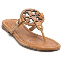 "Tory Burch ""Miller"" Thong Sandals - my favorite new flat sandals this season, look great with strapless casual dresses and with cut off denim"