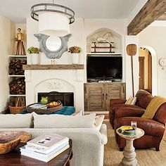 Visually Divide a Great Room - 101 Living Room Decorating Ideas - Southern Living