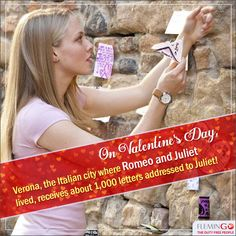 Did you know? The Italian city Verona, where Romeo & Juliet lived, receives about 1,000 letters addressed to Juliet on V-Day!  #DidYouKnow #ValentineFacts #InterestingFacts #Valentine #Valentines #Facts #ValentineWeekspecial   #Valentinesweekspecial #14feb #14february #LoveTreats #Fallinlove   #Didyouknowfact   #Valentine2016   #Valentinesweek #DutyFree
