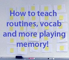 Make your own game and play memory with your students! Perfect for teaching vocabulary routines math problems and more by One Less Headache. Teaching Vocabulary, Teaching Biology, Teaching Spanish, Teaching Tools, Teaching English, Teaching Ideas, Elementary Teaching, Spanish Class, Classroom Behavior